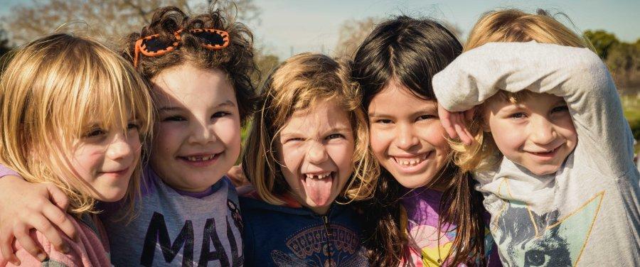 Family portrait girl friends