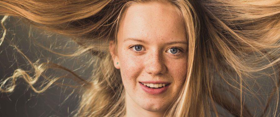 girl hair eyes freckles