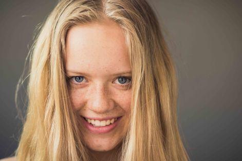 daughter family portrait hair freckles