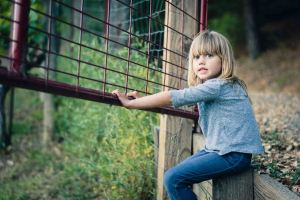 family photography portrait girl ranch red gate