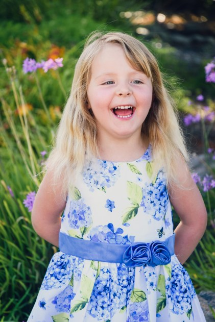 Beautiful portrait of a young girl captured during a family photography session in the Bay Area