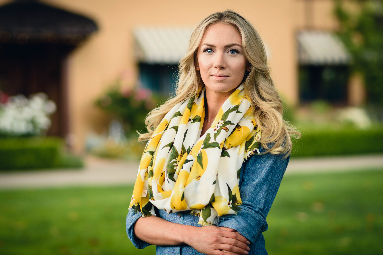 Portrait photography business executive head shot woman outdoors