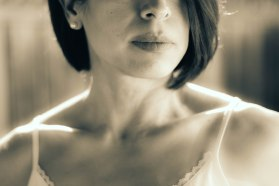 Portrait photography black and white fine art lips clavicle