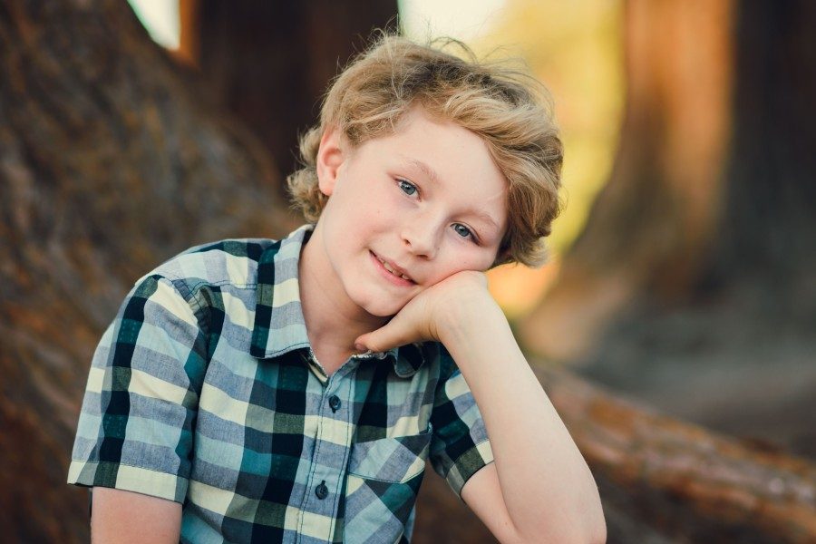 Family photography bay area san jose rose garden portrait of a boy
