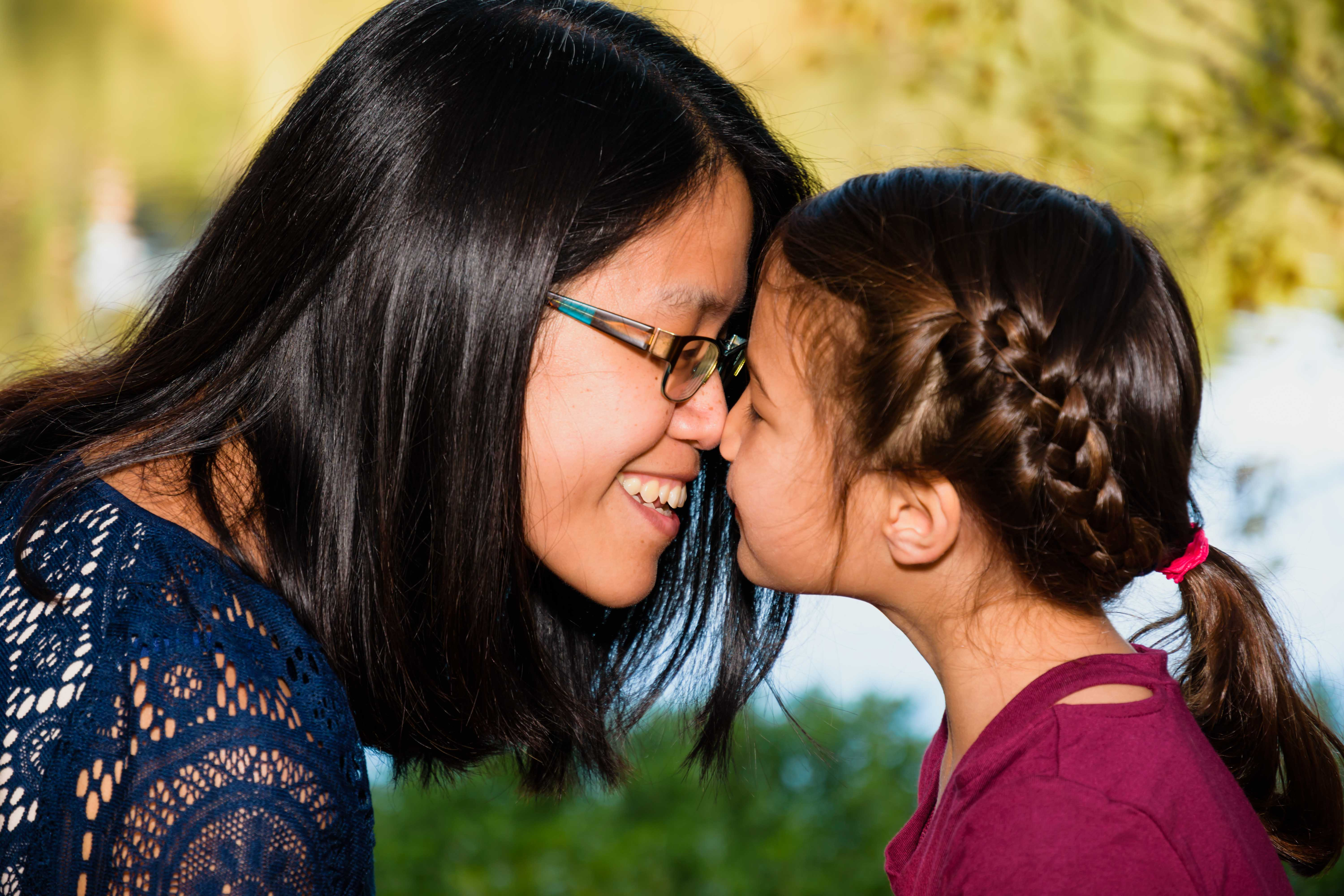 bay area family photography vasona park mother daughter children candid