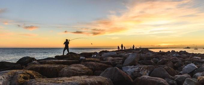 Bay Area San Jose Half Moon Bay family landscape photography photographer ocean fishing setting sun
