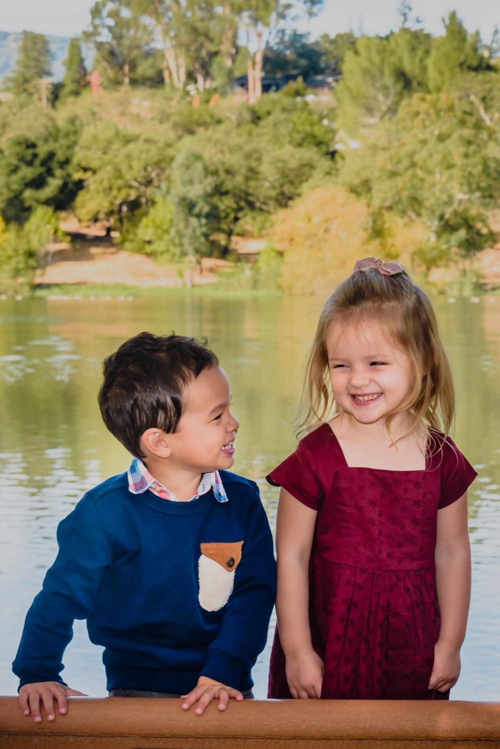 neilson family photography photographer bay area san jose san francisco vasona park campbell cousins