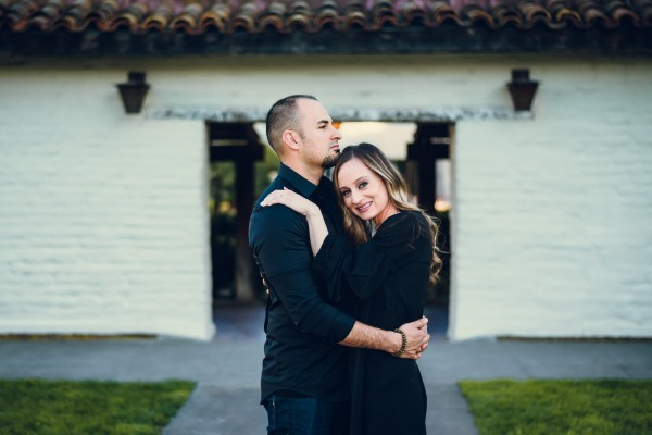 neilson family photography photographer engagement photoshoot santa clara university adobe wall