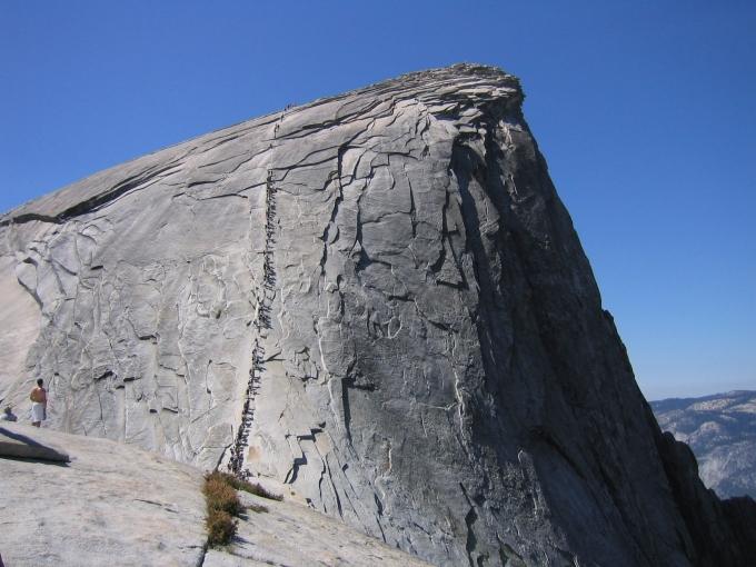 landscape yosemite half dome path