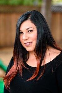 corporate staff photography smart start school teachers educators newark black shirt back hair red highlights