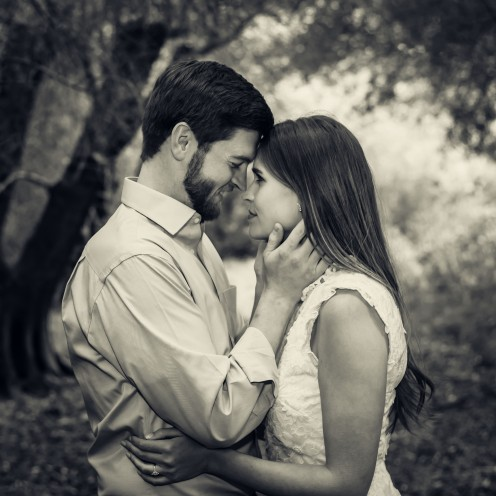 bay area photographer couples engagement photography olive grove foreheads black and white
