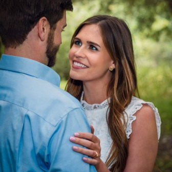 bay area photographer couples engagement photography olive grove bride smile