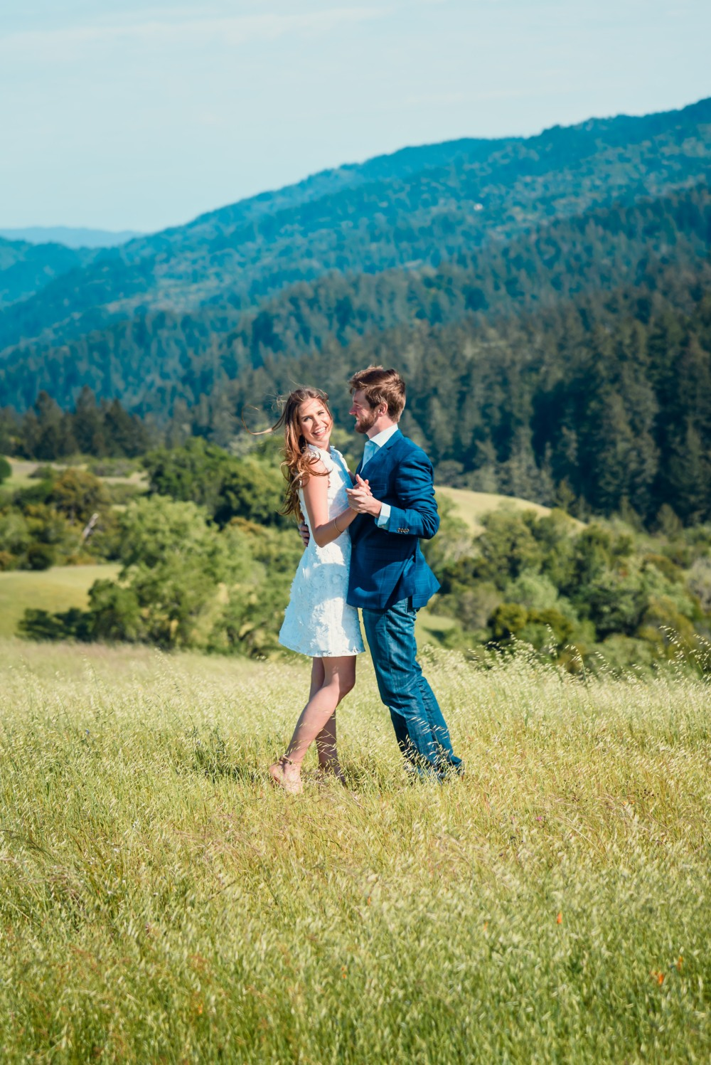 bay area photographer couples engagement photography mountains dance