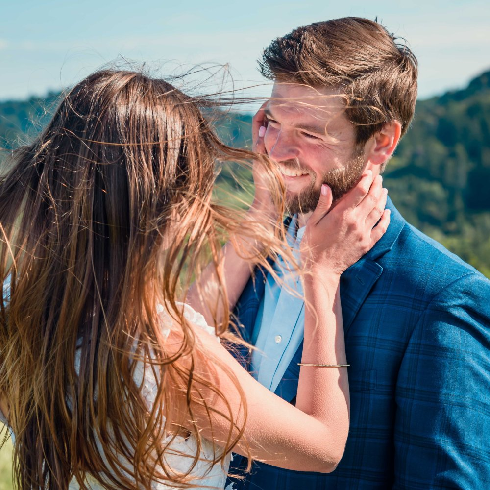 bay area photographer couples engagement photography mountains swept away