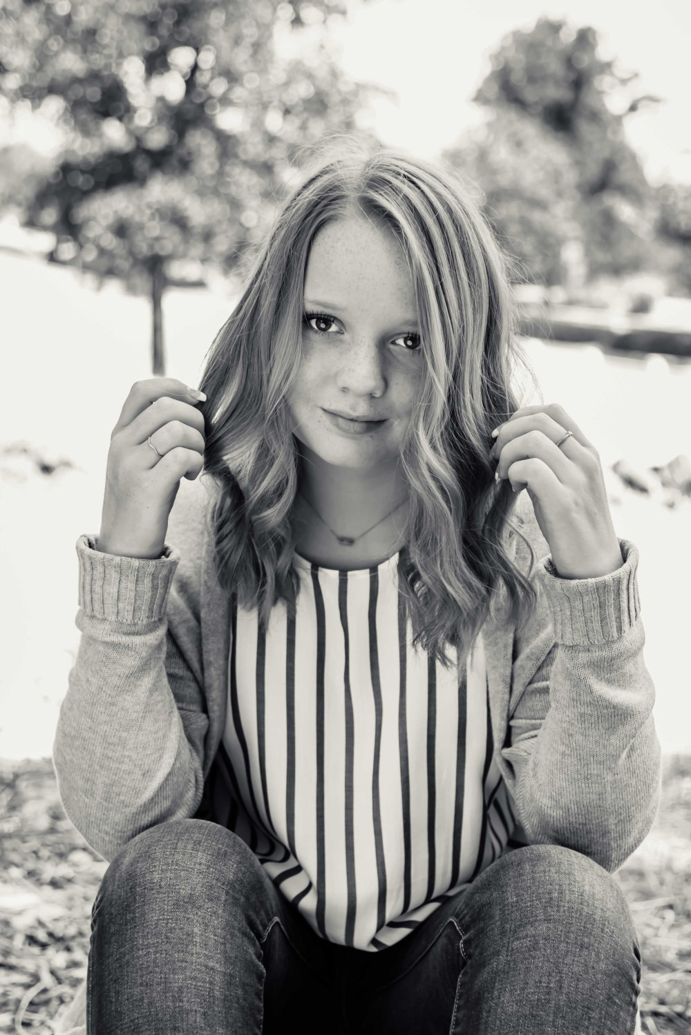 bay area family photo session photography photographer black and white teen portrait 2