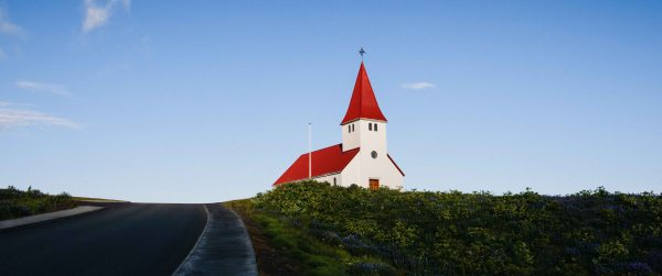 neilson bay area travel photography iceland church on a hill