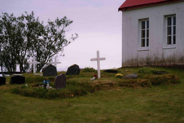 neilson bay area travel photography iceland church cross cemetery