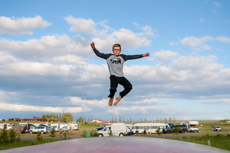 neilson bay area travel landscape photography iceland trampoline jump