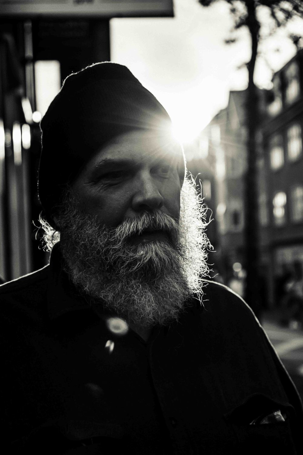 neilson travel street portrait photography iceland black and white beard man bay area photographer