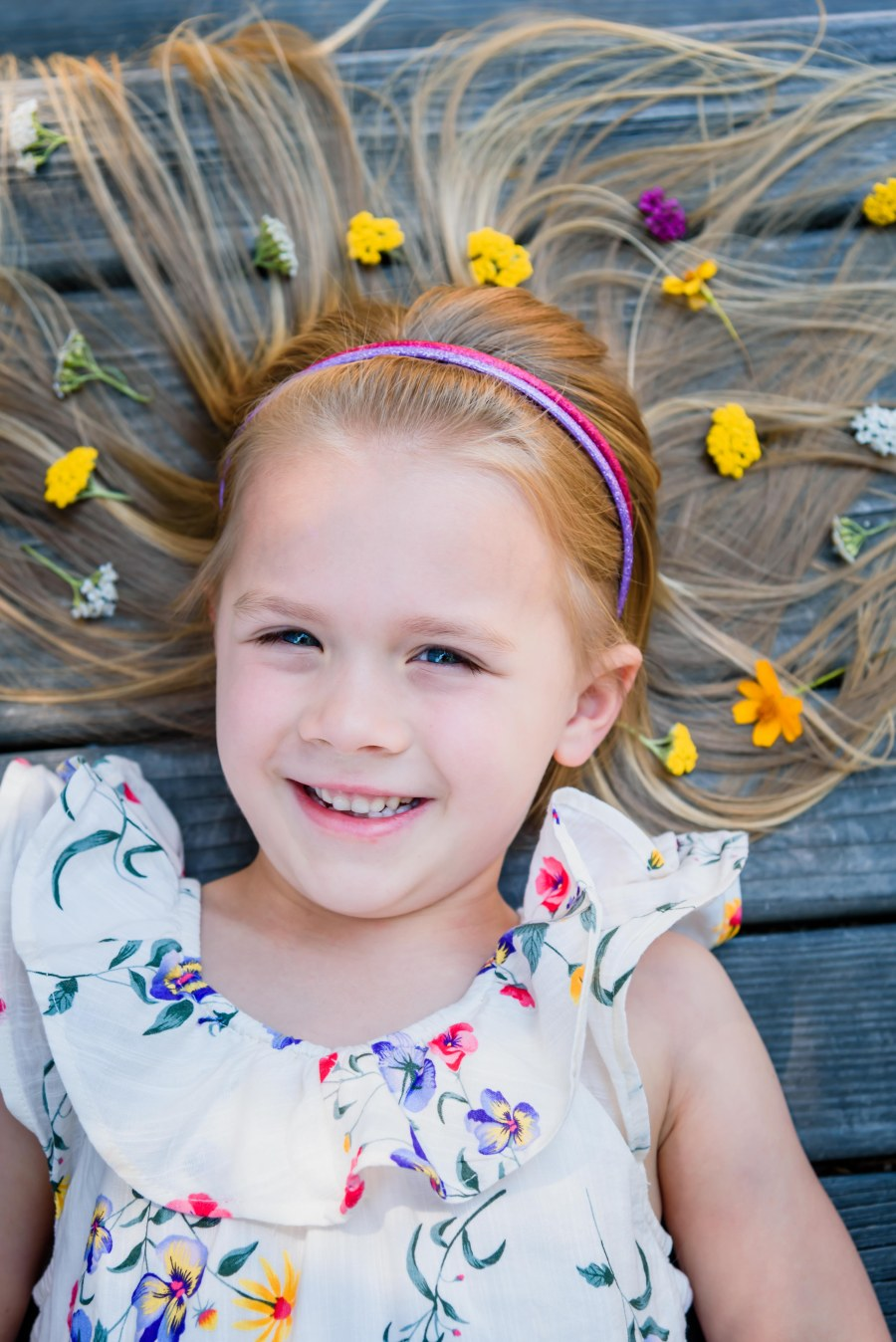 bay area family photographer photography pleasanton flowers in hair