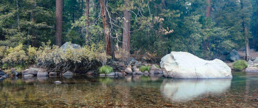neilson travel landscape photography bay area photographer yosemite river boulder reflection