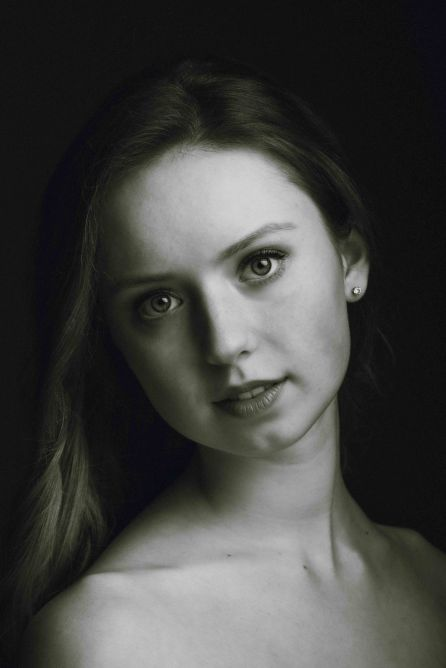 neilson fine art portrait photography bay area san jose new york ballerina headshot ballet bw