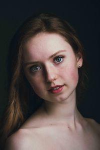 neilson fine art portrait photography ballerina headshot ballet color
