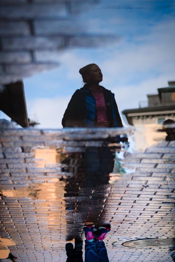 neilson travel photography gamla stan stockholm sweden reflection upside down