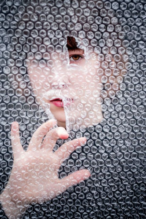neilson photography bay area san jose covid-19 bubble wrap asphyxiation lip ring