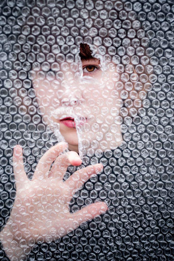 neilson photography bay area san jose covid-19 bubble wrap asphyxiation lip ring