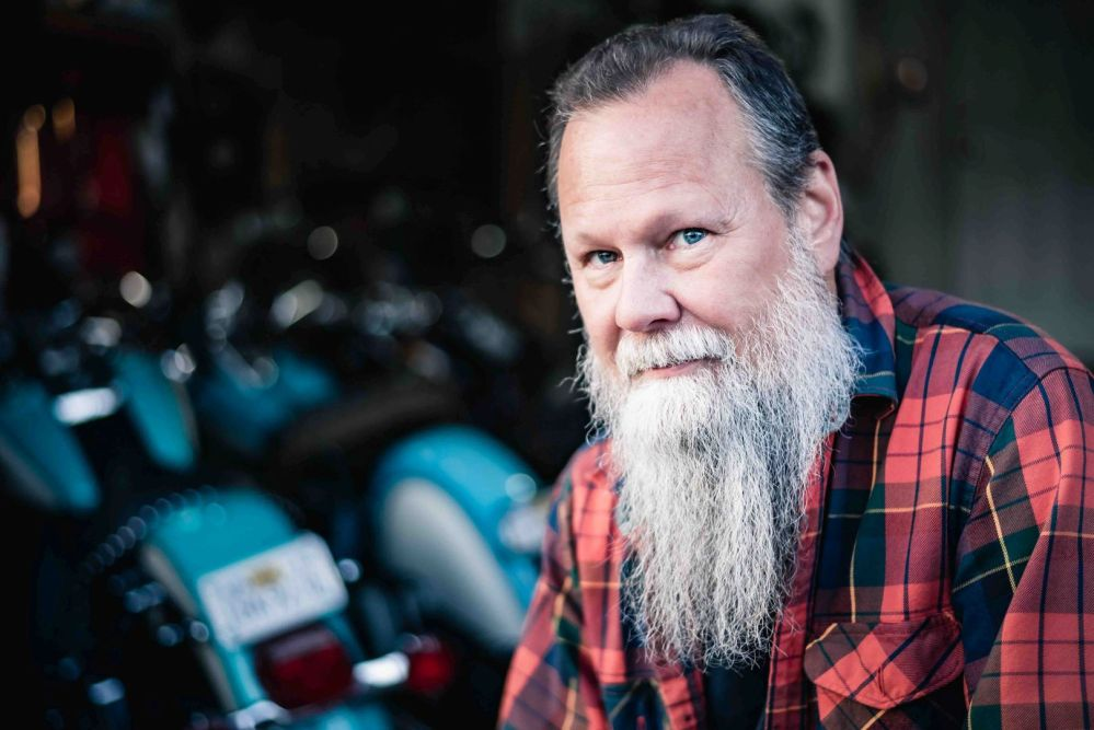 neilson corporate portrait photography beard motorcycle candid