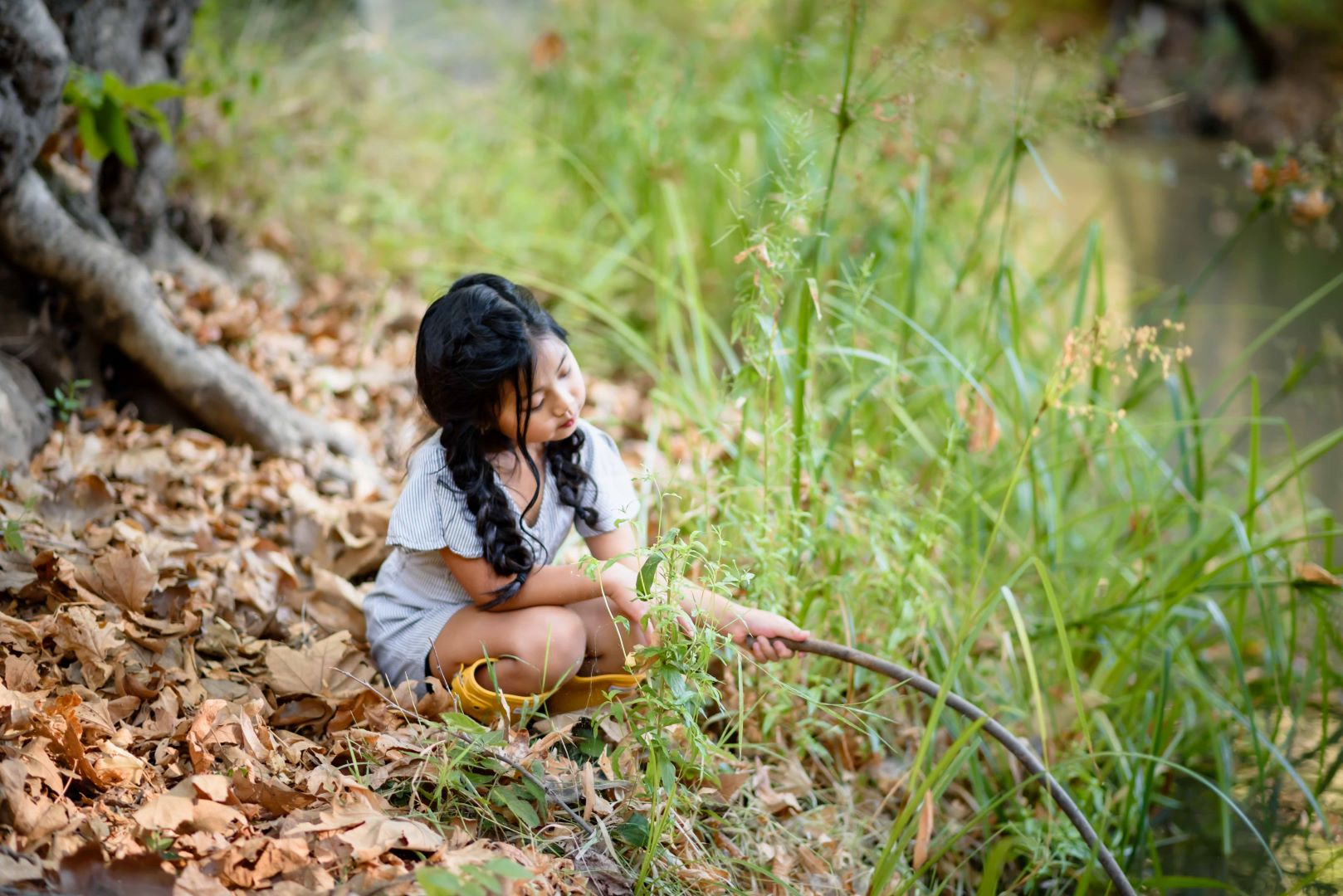 neilson outdoor family photography mcclellan ranch cupertino bay area daughter creek play dream