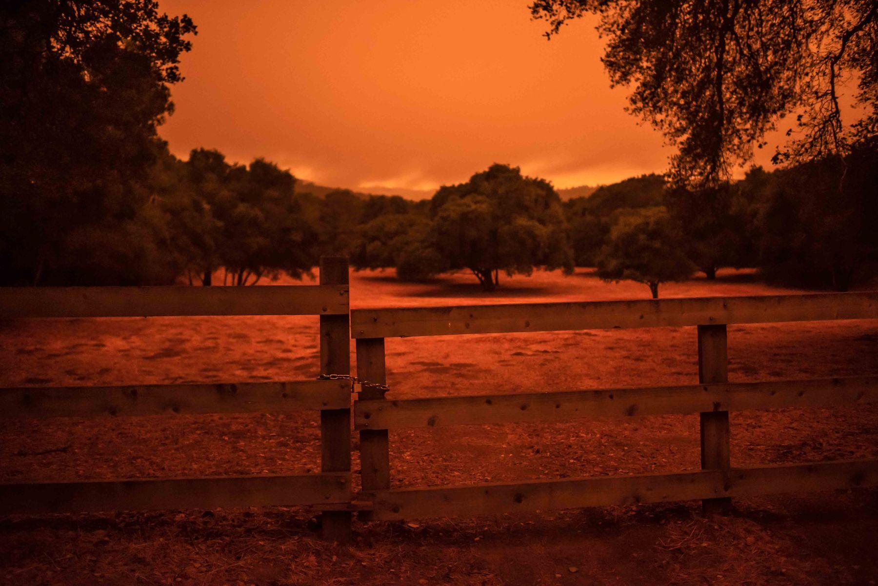bay area fires backroads woodside fence chain