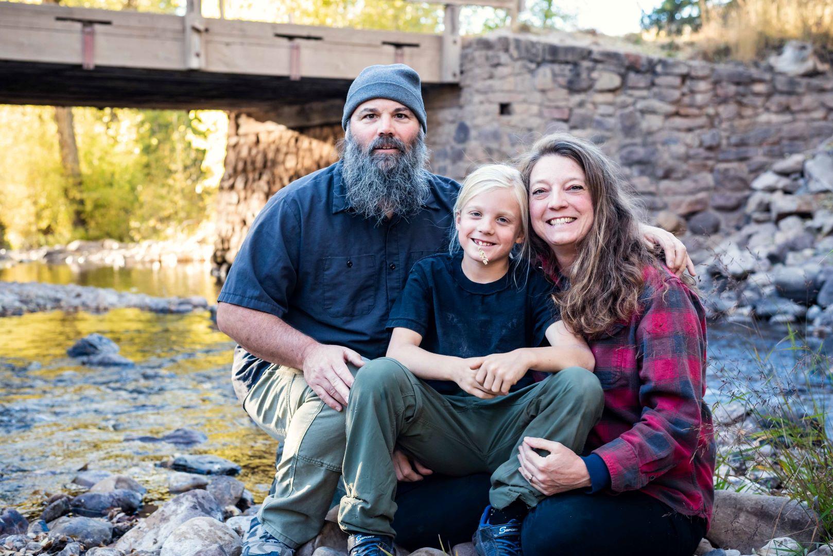 neilson family photography utah weber canyon wilderness outdoor bridge river