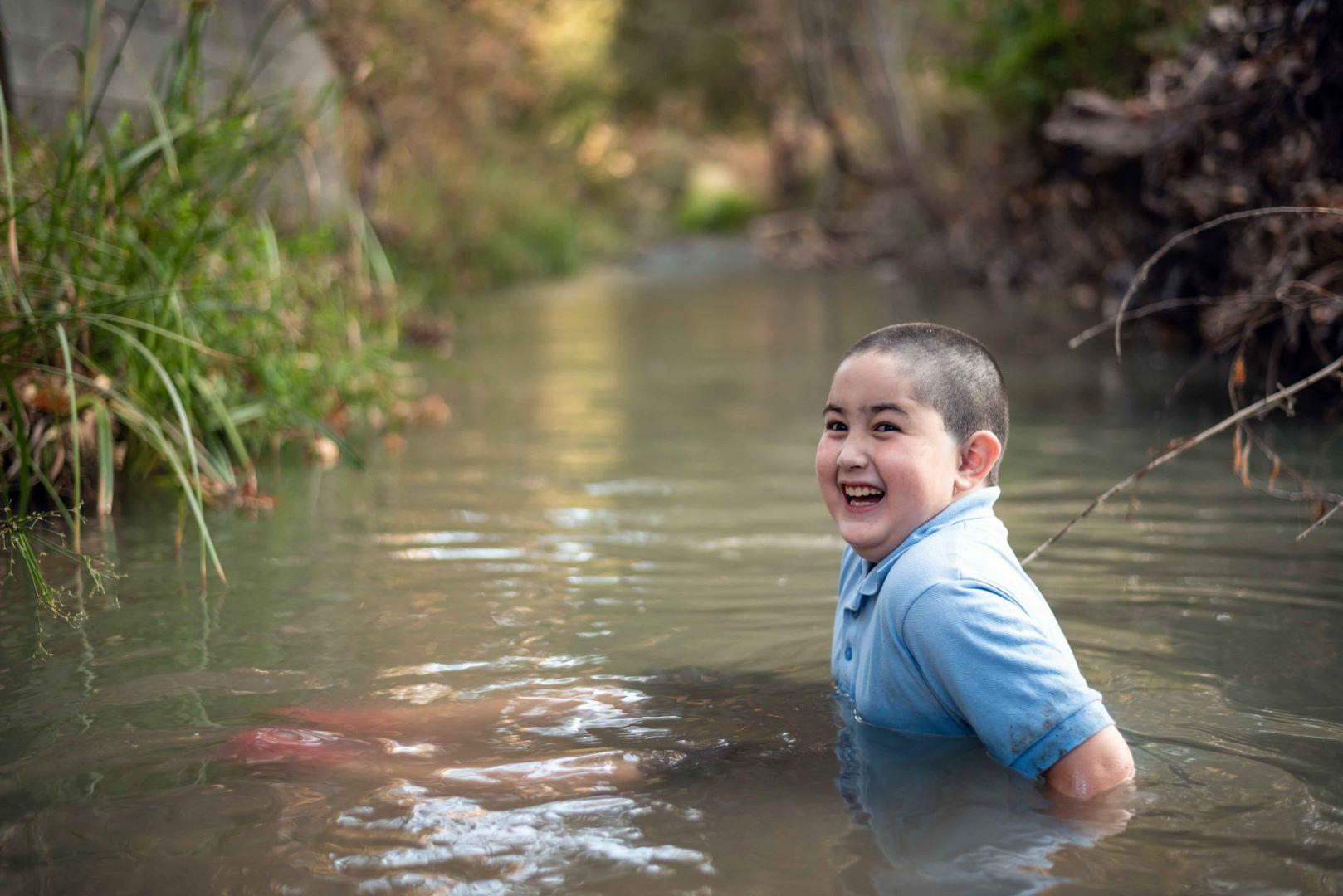 neilson kids family photography cupertino mcclellan ranch creek boy atticus