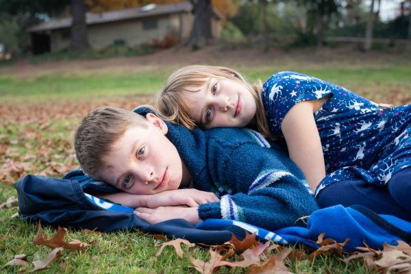 neilson kids family photography los gatos vasona park siblings lexie logan
