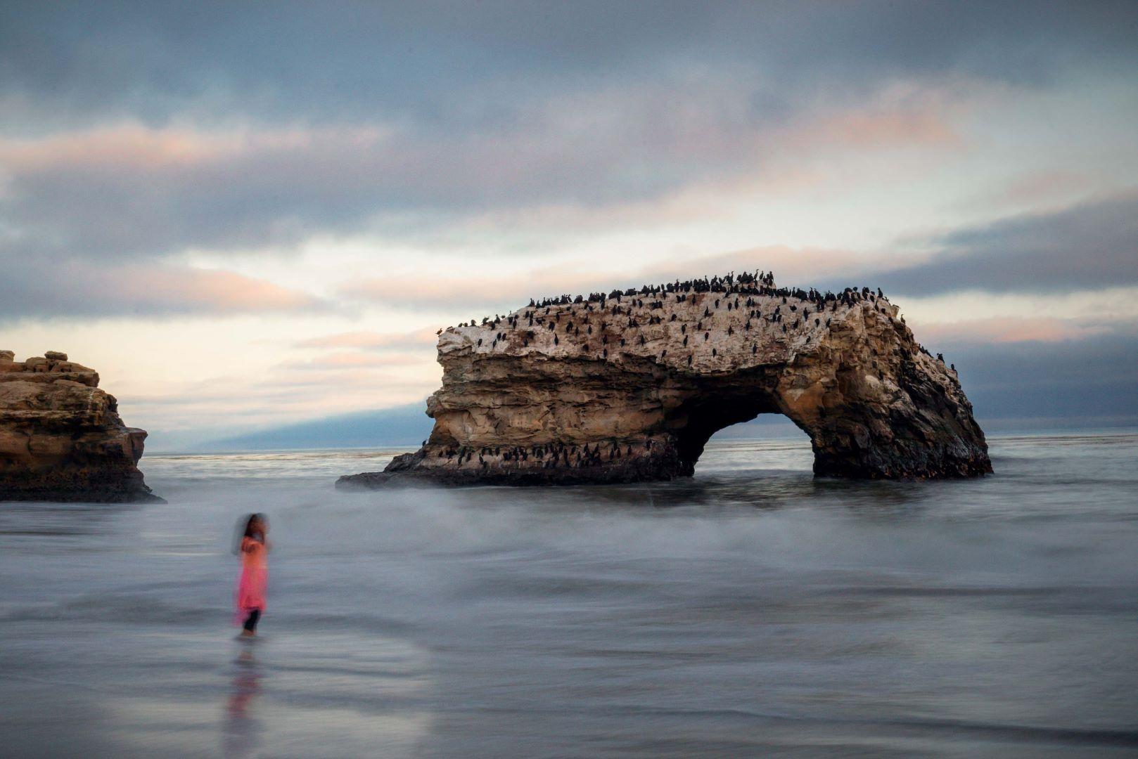 neilson landscape photography natural bridges santa cruz california sunset girl