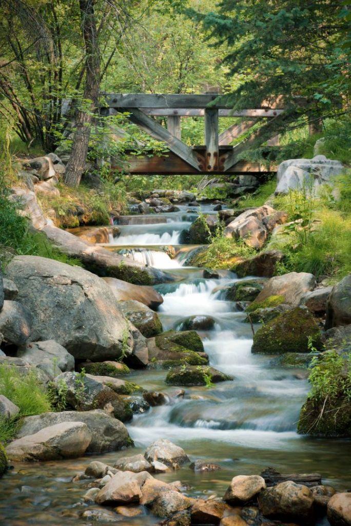 landscape photography utah sundance bridge river