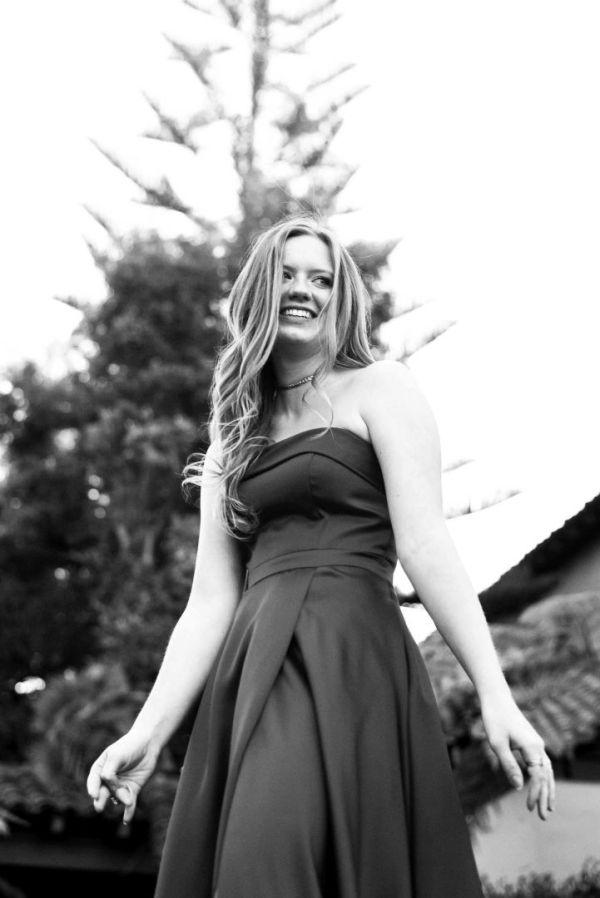neilson teen prom portrait photography red dress santa clara university black and white joy