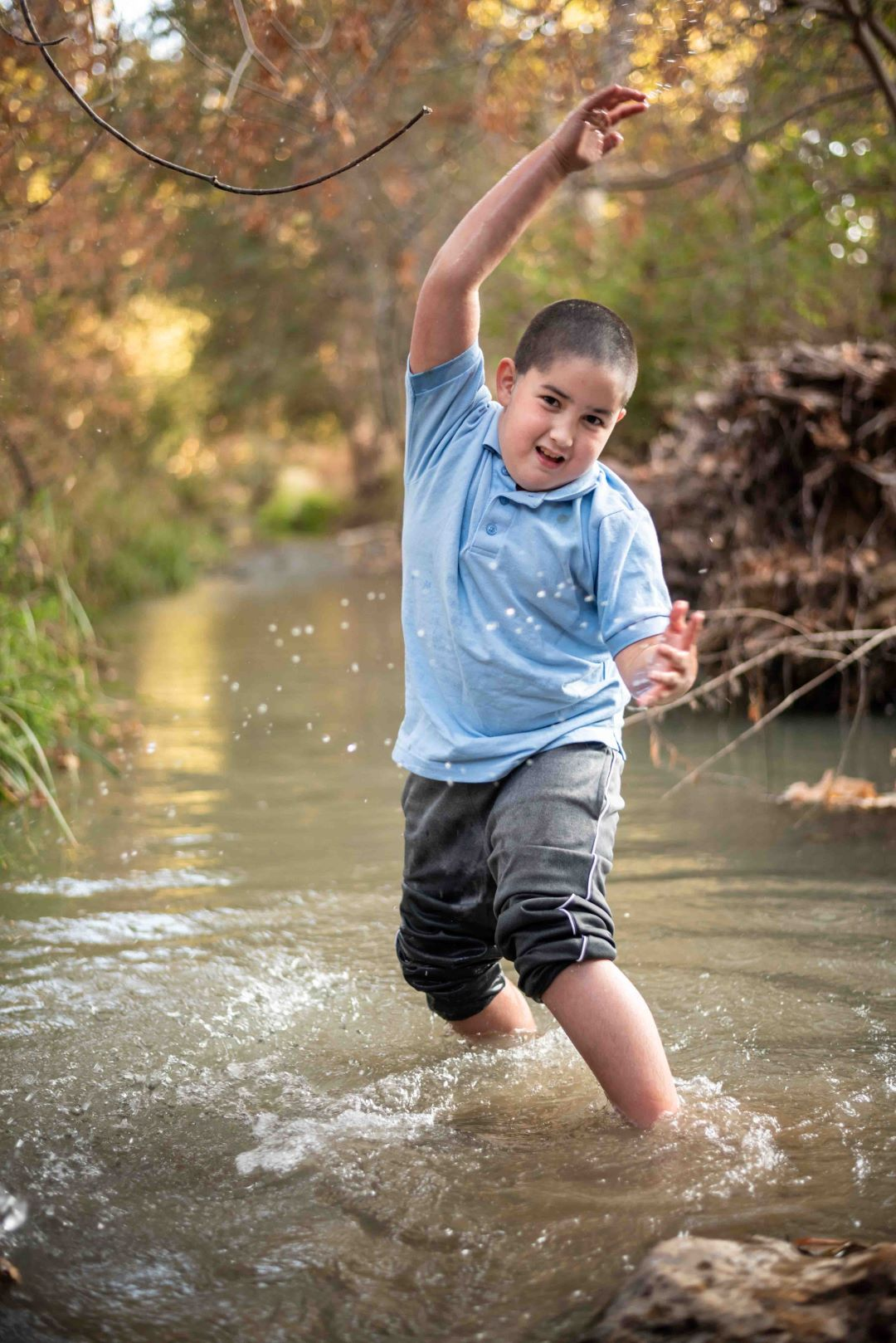 neilson outdoor family photography kids bay area cupertino mcclellan ranch creek play wild atticus