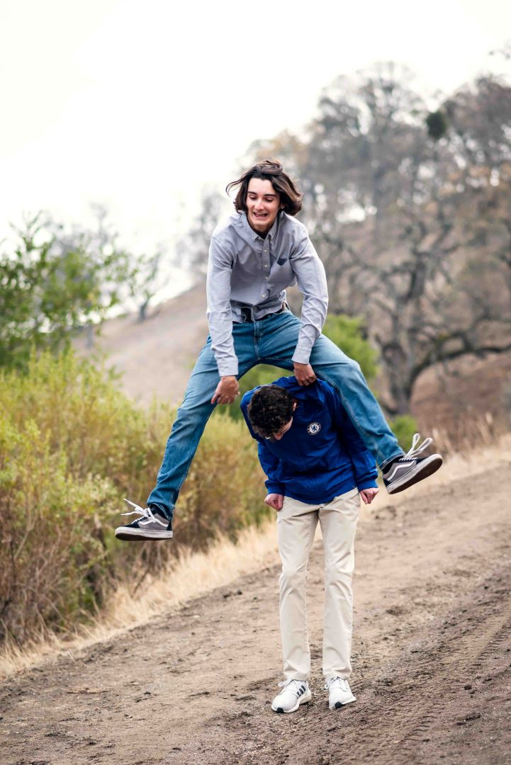 neilson family photography walnut creek outdoors mountains trees nature borges ranch mount diablo leap frog