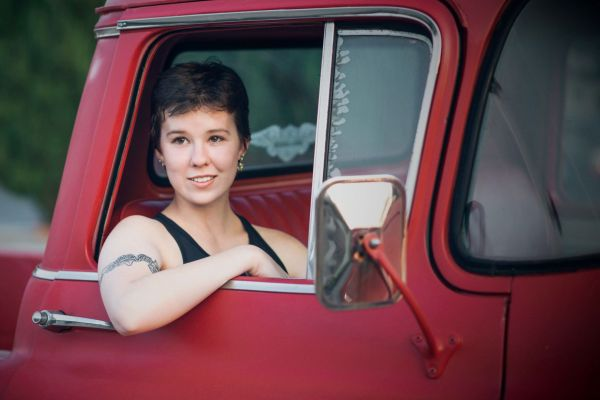 grace grit photo essay bay area photographer san jose red truck tattoos short hair passenger seat tattoo