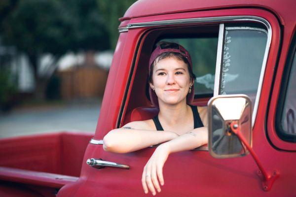 grace grit photo essay bay area photographer san jose red truck tattoos short hair passenger seat baseball hat