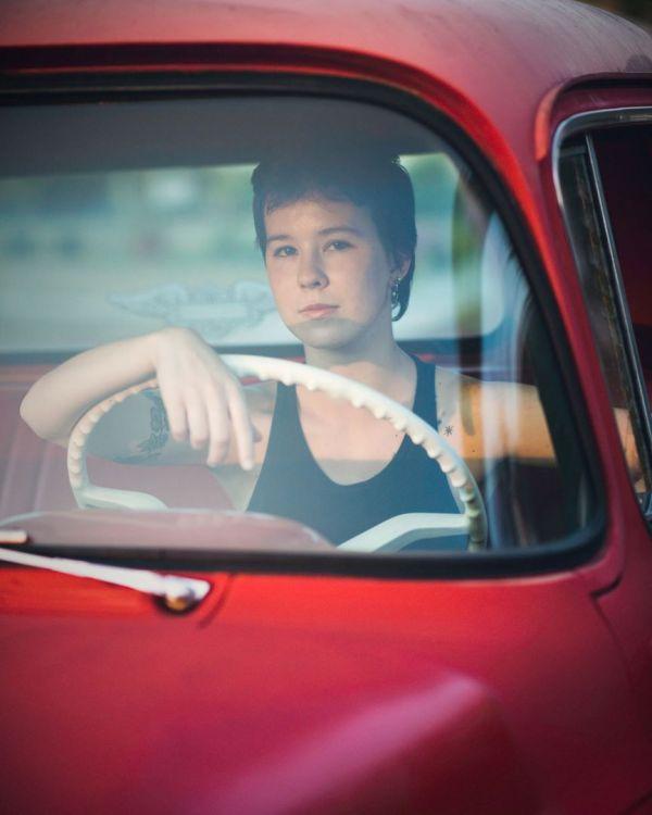 grace grit photo essay bay area photographer san jose red truck tattoos short hair driving window